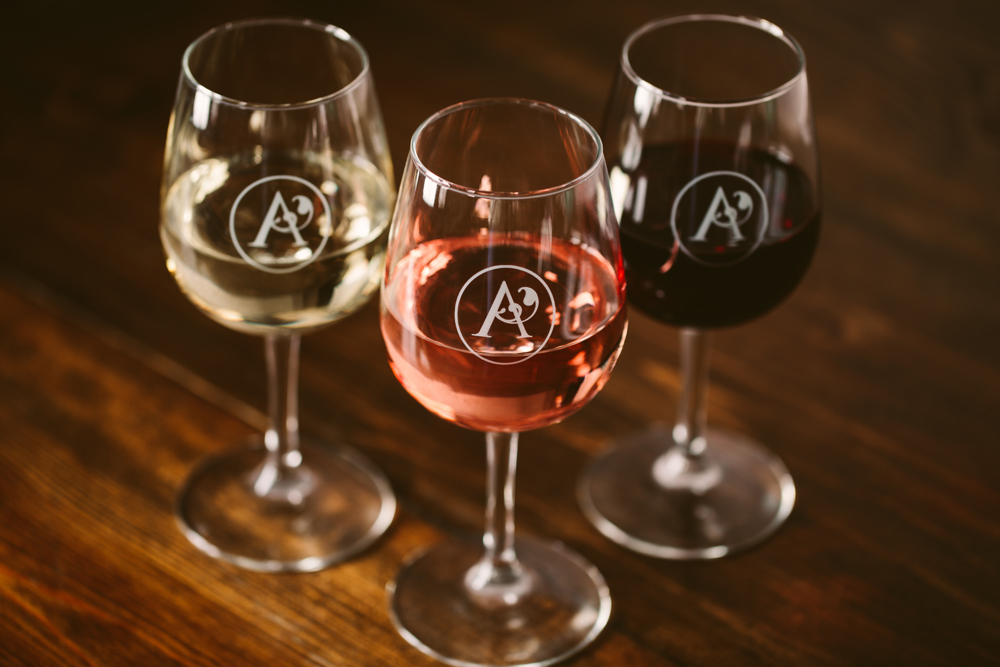 three sophisticated wines from aurora cellars tasting room