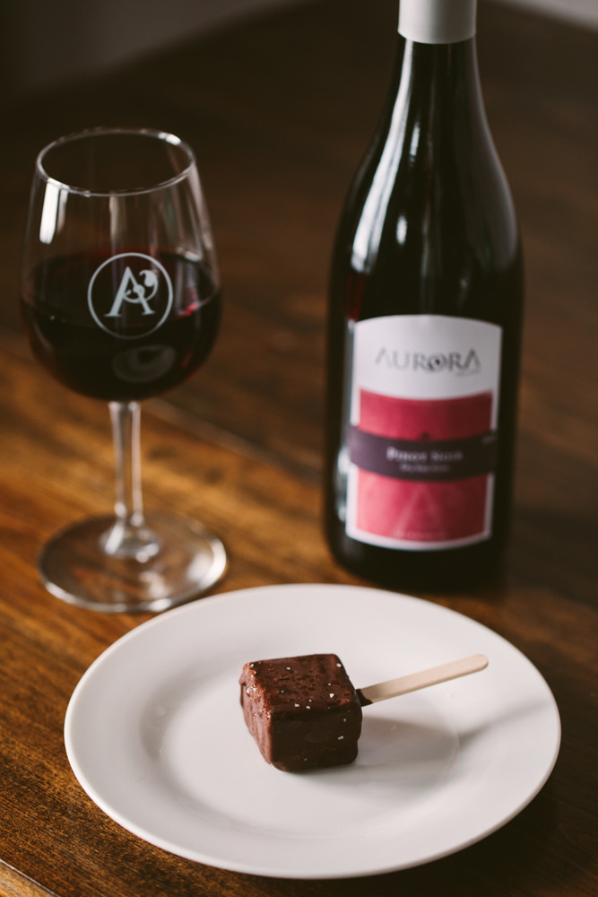 a delicious pairing at aurora cellars in northern michigan