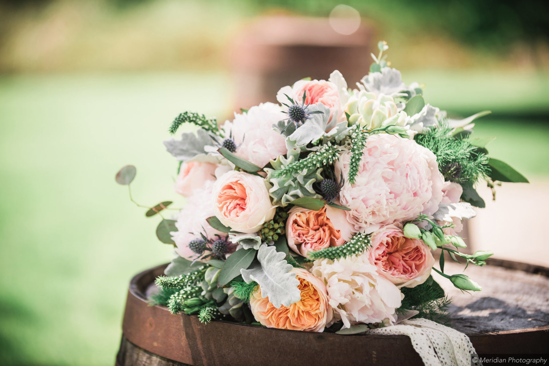 wedding bouquet at northern michigan wedding venue
