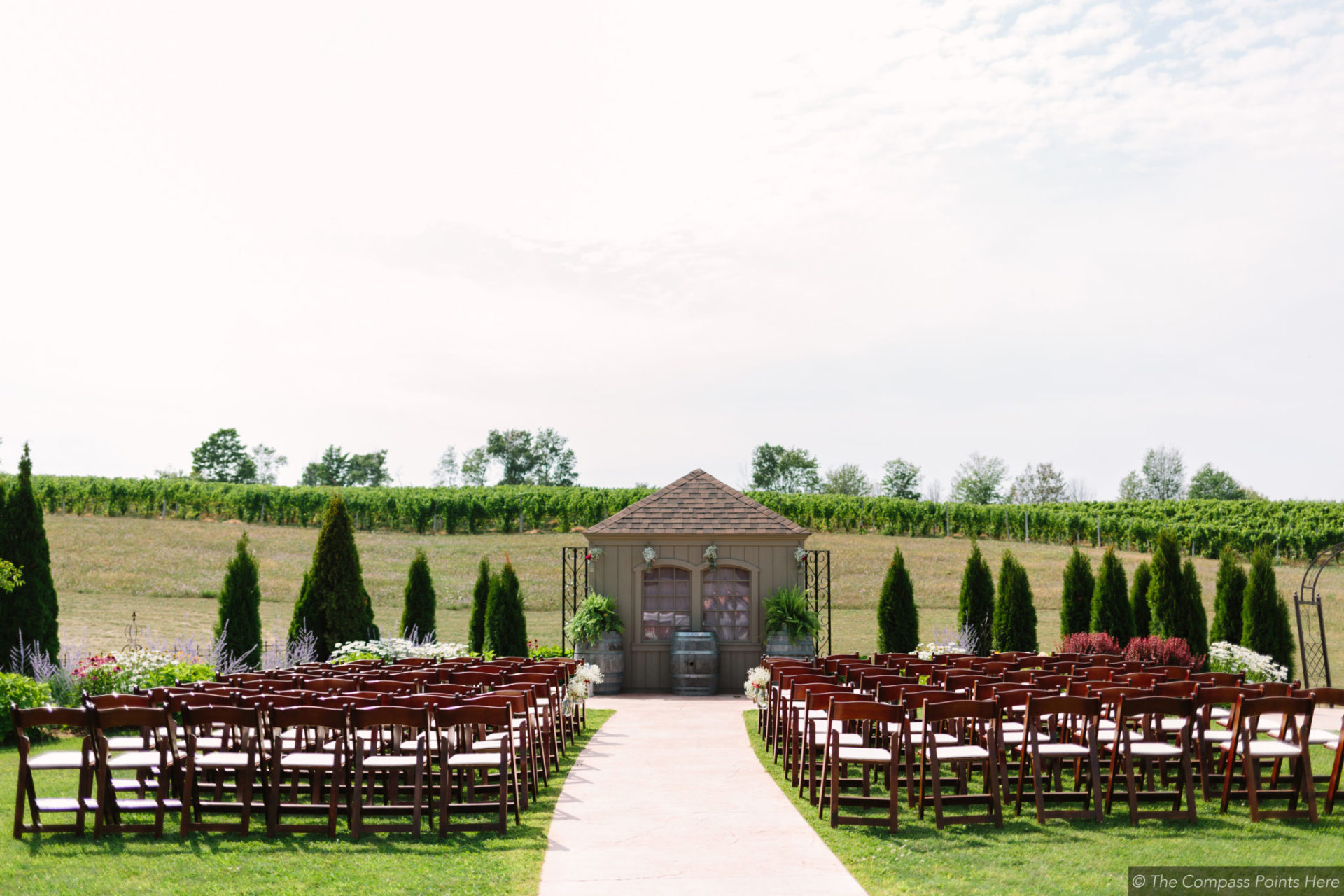 north michigan destination wedding at aurora cellars vineyard