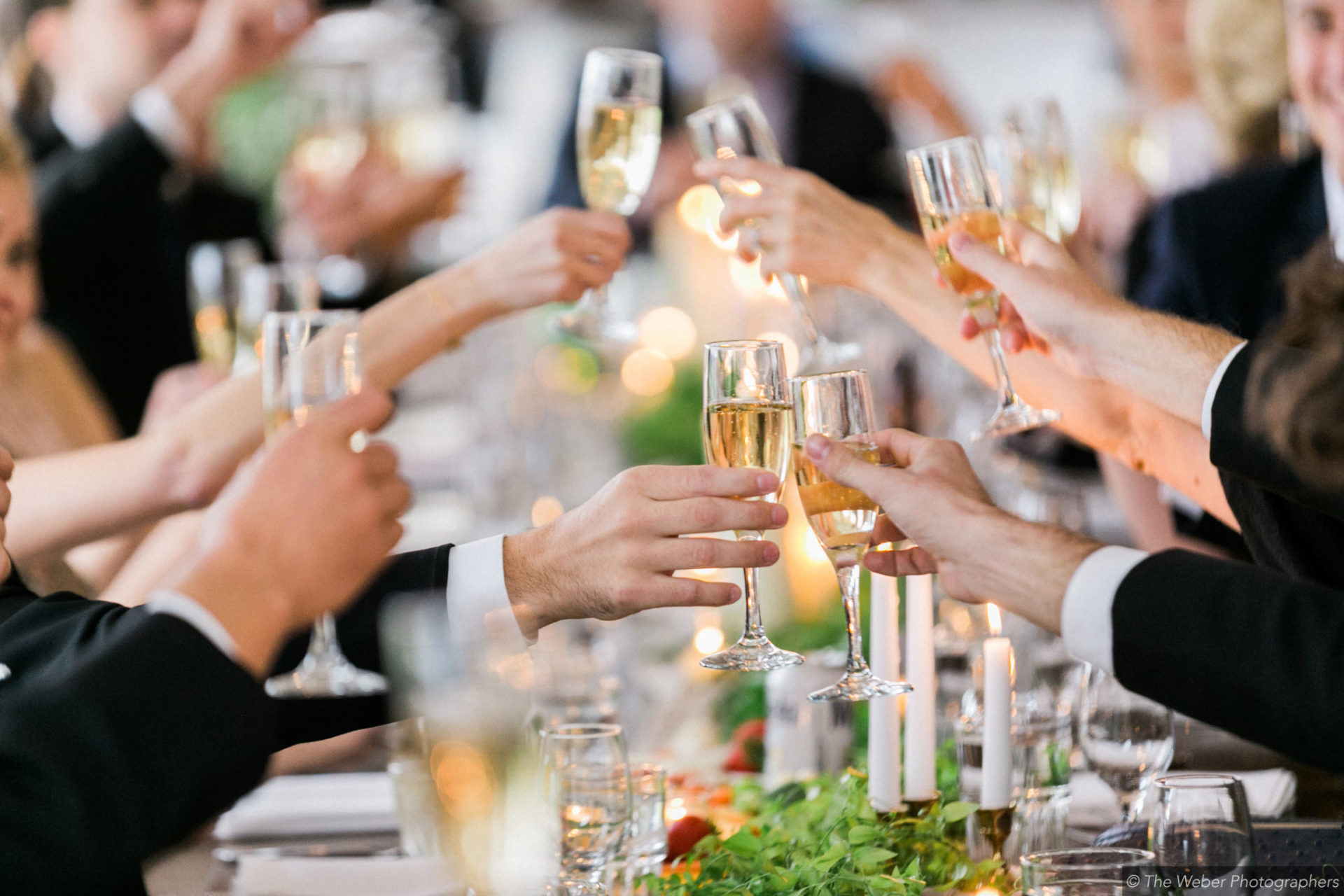 traverse city area wedding toast at aurora cellars vineyard