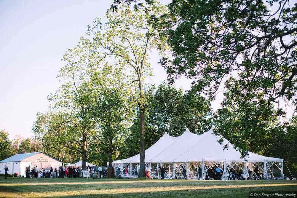 Lake Leelanau Wedding Tent at Aurora Cellars