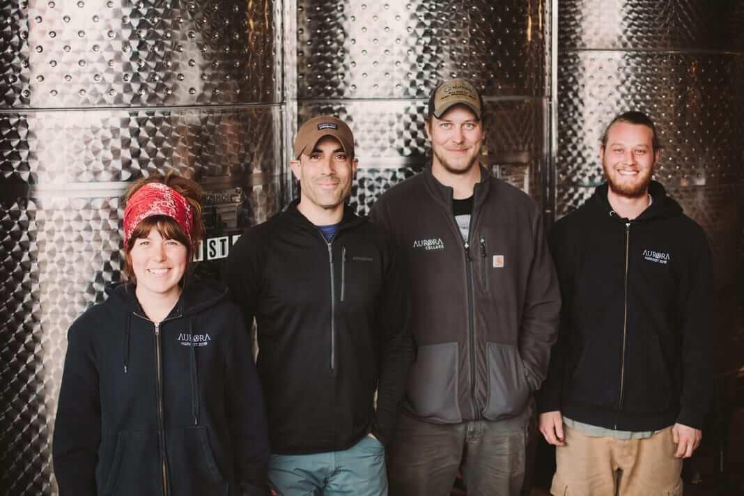 The Cellar Crew at Aurora Cellars