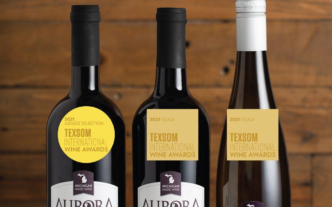 Aurora Cellars Wines Bring Home Big Awards